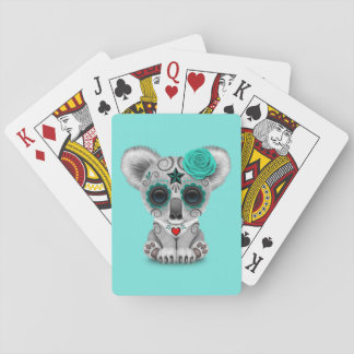 Blue Day of the Dead Baby Koala Playing Cards