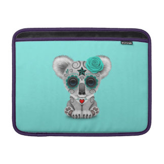 Blue Day of the Dead Baby Koala Sleeve For MacBook Air