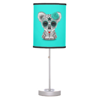 Blue Day of the Dead Baby Koala Table Lamp