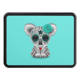 Blue Day of the Dead Baby Koala Trailer Hitch Cover