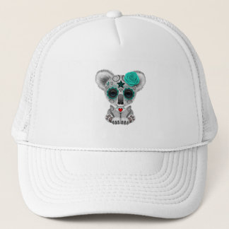 Blue Day of the Dead Baby Koala Trucker Hat