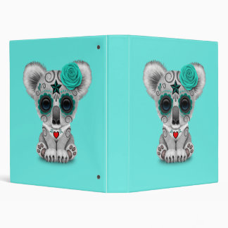 Blue Day of the Dead Baby Koala Vinyl Binder