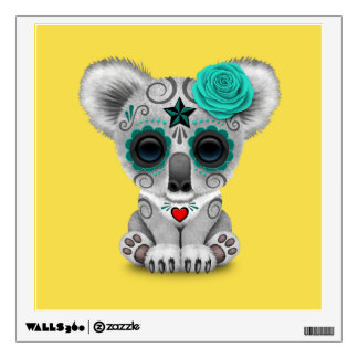 Blue Day of the Dead Baby Koala Wall Decal