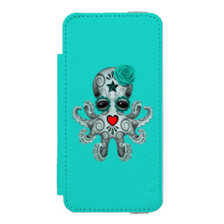 Blue Day of the Dead Baby Octopus Incipio Watson™ iPhone 5 Wallet Case