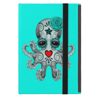 Blue Day of the Dead Baby Octopus iPad Mini Cover