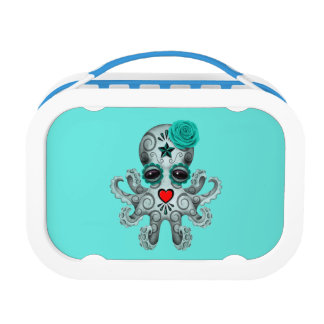 Blue Day of the Dead Baby Octopus Lunch Box