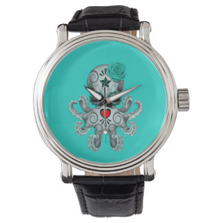 Blue Day of the Dead Baby Octopus Watch