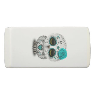 Blue Day of the Dead Baby Owl Eraser