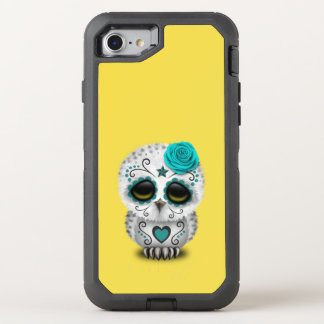 Blue Day of the Dead Baby Owl OtterBox Defender iPhone 8/7 Case