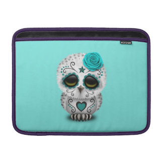 Blue Day of the Dead Baby Owl Sleeves For MacBook Air