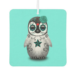 Blue Day of the Dead Baby Penguin Air Freshener