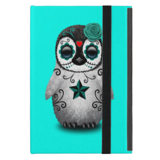 Blue Day of the Dead Baby Penguin iPad Mini Case