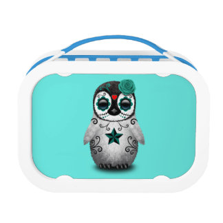 Blue Day of the Dead Baby Penguin Lunch Box