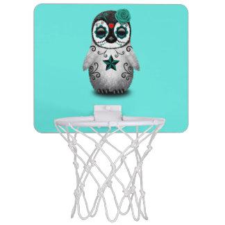 Blue Day of the Dead Baby Penguin Mini Basketball Hoop