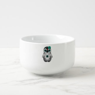 Blue Day of the Dead Baby Penguin Soup Mug