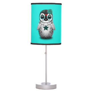 Blue Day of the Dead Baby Penguin Table Lamp