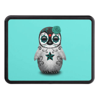 Blue Day of the Dead Baby Penguin Trailer Hitch Cover