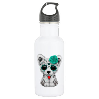 Blue Day of the Dead Baby Polar Bear 532 Ml Water Bottle