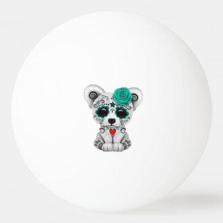 Blue Day of the Dead Baby Polar Bear Ping Pong Ball
