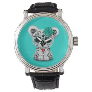 Blue Day of the Dead Baby Polar Bear Watch