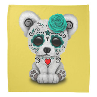 Blue Day of the Dead Baby Puppy Dog Bandana