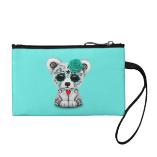 Blue Day of the Dead Baby Puppy Dog Coin Purse
