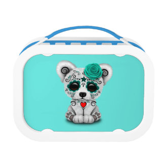 Blue Day of the Dead Baby Puppy Dog Lunch Box