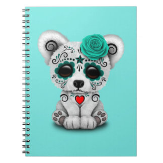 Blue Day of the Dead Baby Puppy Dog Notebook