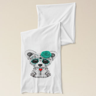 Blue Day of the Dead Baby Puppy Dog Scarf