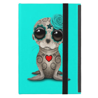 Blue Day of the Dead Baby Sea Lion iPad Mini Case