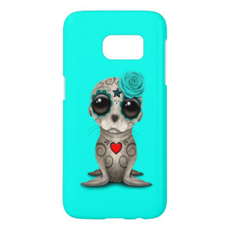 Blue Day of the Dead Baby Sea Lion Samsung Galaxy S7 Case