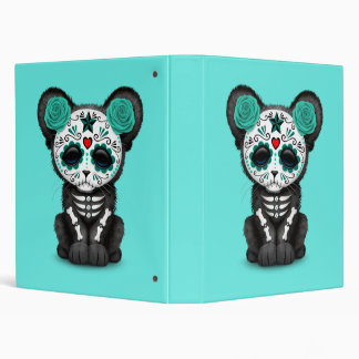 Blue Day of the Dead Black Panther Cub Binder