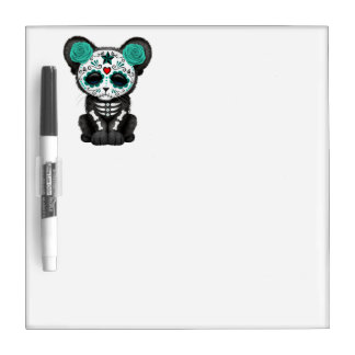 Blue Day of the Dead Black Panther Cub Dry Erase Board