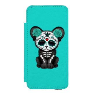 Blue Day of the Dead Black Panther Cub Incipio Watson™ iPhone 5 Wallet Case