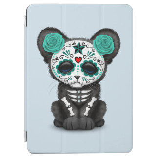 Blue Day of the Dead Black Panther Cub iPad Air Cover