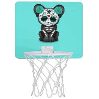 Blue Day of the Dead Black Panther Cub Mini Basketball Hoop