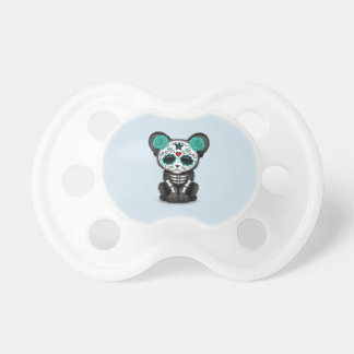 Blue Day of the Dead Black Panther Cub Pacifier