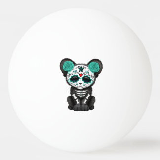 Blue Day of the Dead Black Panther Cub Ping Pong Ball
