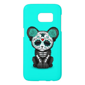 Blue Day of the Dead Black Panther Cub Samsung Galaxy S7 Case