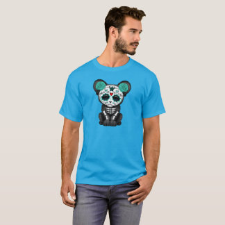 Blue Day of the Dead Black Panther Cub T-Shirt