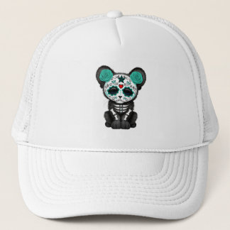 Blue Day of the Dead Black Panther Cub Trucker Hat
