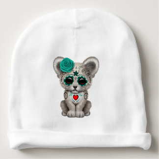 Blue Day of the Dead Lion Cub Baby Beanie