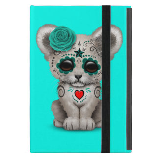 Blue Day of the Dead Lion Cub Case For iPad Mini