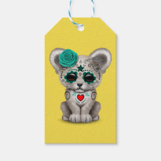 Blue Day of the Dead Lion Cub Gift Tags