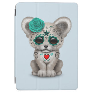 Blue Day of the Dead Lion Cub iPad Air Cover