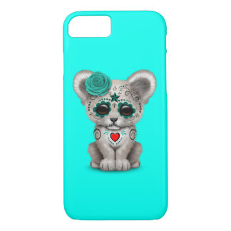 Blue Day of the Dead Lion Cub iPhone 8/7 Case