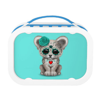 Blue Day of the Dead Lion Cub Lunch Box