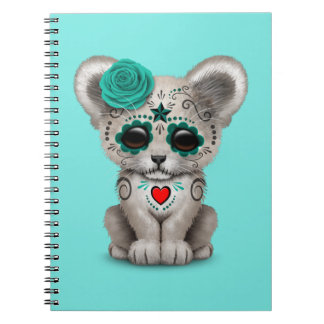 Blue Day of the Dead Lion Cub Notebook