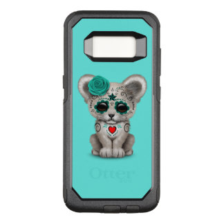 Blue Day of the Dead Lion Cub OtterBox Commuter Samsung Galaxy S8 Case