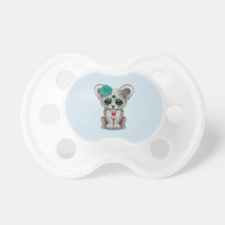 Blue Day of the Dead Lion Cub Pacifier